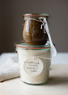 Vanilla Cookie Sugar Scrub and Soak Recipes