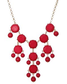 My holiday obsession: accessorizing with this Bubble Necklace from rue21