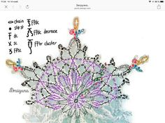 Caroline Kddd   VK Crochet Snowflake Pattern, Crochet Motif Patterns, Crochet Snowflakes, Crochet Diagram, Christmas Snowflakes, Baby Knitting Patterns, Crochet Doilies, Crochet Flowers, Irish Crochet