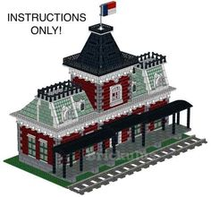 lego custom victorian train station instructions - Lego Halloween Train