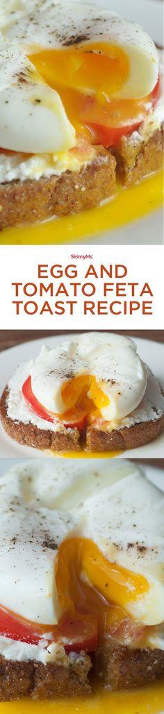 Egg and Tomato Feta Toast! :)