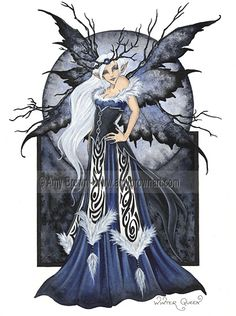 Fairy Art Artist Amy Brown: The Official Online Gallery. Fantasy Art, Faery Art, Dragons, and Magical Things Await. Amy Brown Fairies, Elves And Fairies, Dark Fairies, Fantasy Fairies, Gothic Fantasy Art, Gothic Fairy, Elfen Fantasy, Winter Fairy, Fairy Pictures