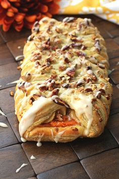 Delight in Apple and Sweet Potato Pastry Braids with its apple pie-like filling and mashed sweet potato. The flaky puff pastry makes it fab.