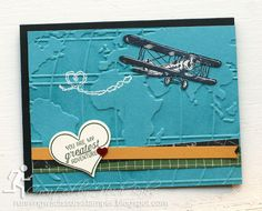 Stampin' Up Sky is the Limit by #RunningwScissorsStamper, Going Global, Going Places, World Traveler