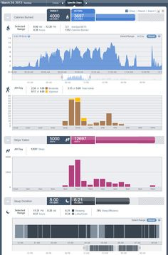 Bodymedia, Fuelband, Fitbit and Jawbone Data and Reporting Comparison Update. --- Note the vigorous activity tracked. This was done passively by the sensors monitoring my body temperature and sweat. These sensors aren't available in any of the other devices being tested.