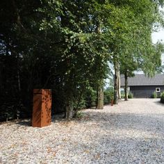 Corten Steel Letterbox Landscape Feature
