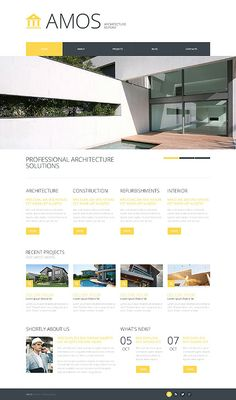 Need a design for your architecture company that is easily customizable and yet feature rich and trendy looking? Choose premium architecture templates from Template Monster. Web Layout, Layout Design, Web Responsive, Architecture Company, Free Website Templates, Website Themes, Website Ideas, Website Design Inspiration, Photography Website