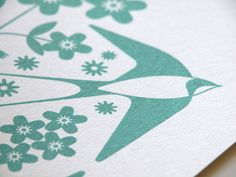 how to Gocco Print - Swallows Hand Pulled Gocco Print by Dee Beale, via Flickr