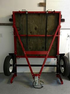 Getting started: my Harbor Freight folding trailer Bug Out Trailer, Trailer Dolly, Kayak Trailer, Off Road Camper Trailer, Small Trailer, Trailer Build, Camper Trailers, Foldable Trailer, Folding Utility Trailer