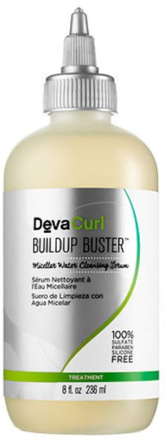 Top 10 Curly Girl Hair Care Products DevaCurl Buildup Buster clarifies and restores bounce to your curls. http://thepatranilaproject.com/top-10-curly-hair-care-products/