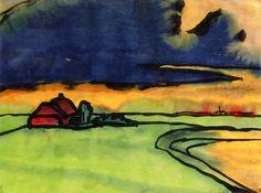 Landscape~Emil Nolde | Lone Quixote | #EmilNolde #nolde #expressionism #art #painting