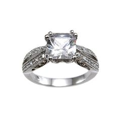 Laurie's Antique Style Princess Cut CZ Ring