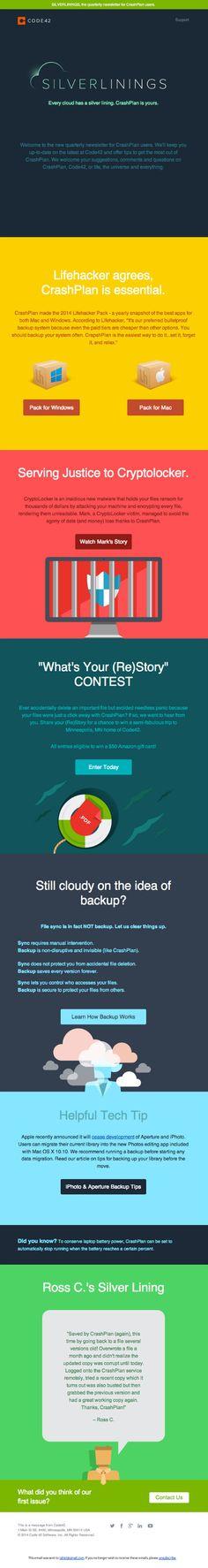 Web SILVERLININGS newsletter #email #design #newsletter #emailmarketing