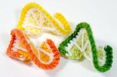 Free Pattern: Citrus Twist – Lemon, Lime, Orange | Tissue Box Bakery ༺✿ƬⱤღ http://www.pinterest.com/teretegui/✿༻