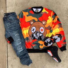 I like wearing camo outfits, but like dark color camo outfit's is something I like more. Dope Outfits For Guys, Swag Outfits Men, Tomboy Outfits, Cool Outfits, Teen Boy Fashion, Tomboy Fashion, Mens Fashion, Hype Clothing, Mens Clothing Styles