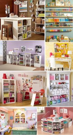 'Finding Inspiration: Craft Room Ideas...!' (via How to Nest for Less™)
