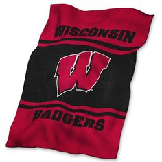 Wisconsin Badgers UltraSoft Blanket, Multicolor