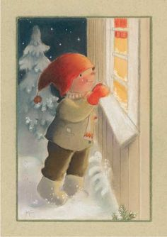 Postcrossing postcard from Finland Illustration Noel, Christmas Illustration, Illustrations, Christmas Photos, Vintage Christmas, Christmas Cards, Humanoid Mythical Creatures, Creation Photo, Funny Drawings