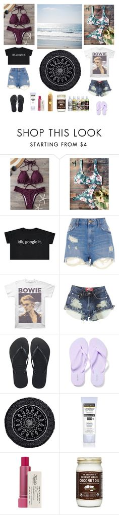 """""""Best friends- beach trip"""" by me1ody ❤ liked on Polyvore featuring River Island, Havaianas, Old Navy, The Beach People, Neutrogena, Kiehl's and Sun Bum"""
