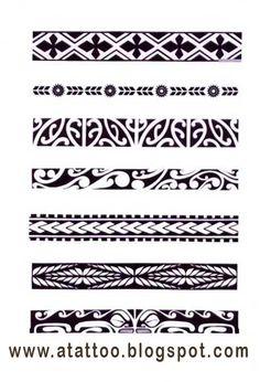 Padrões de bracelete maori. #maoritattoosbracelet