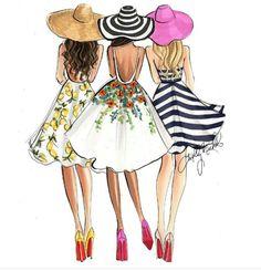 Related image fashion art zeichnungen, illustration mode, mode zeichnen в я Best Friend Drawings, Bff Drawings, Fashion Art, Girl Fashion, Fashion Design, Fashion Ideas, Paper Fashion, Fashion Black, Fashion Addict