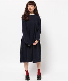 起毛ニットソースタンドネックワンピース(ワンピース)|Samansa Mos2(サマンサ モスモス)のファッション通販 - ZOZOTOWN