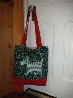 Plaid Scottie Dog Tote Bag by OccidentalCreations on Etsy, $35.00