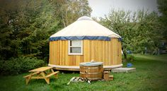Honeymoon Yurt at Cabot Shores