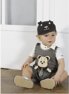 Aliexpress.com : Buy baby boys cute cartoon suits T shirts+romper boys set baby clothes 9pcs/lot from Reliable baby suits suppliers on ai li shen's store