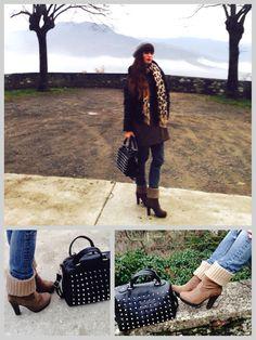 #ecoleather #accessories #fashion #heels #style #girl #blogger #winter #accessori #borse #scarpe #pelleecologica #fashionblogger #styleblogger #studs #brown #black #ootd #outfit #ecofashion #eco  negozi, Patent leather accessories vegan fashionistas, borsa borchiata nera, trinchetti ou...