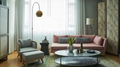Pastel hues and quirky decor make this unit bloom with youth Condo Design, House Design, Living Area, Living Room Decor, Quirky Home Decor, Black Walls, House And Home Magazine, Small Rooms, House Tours
