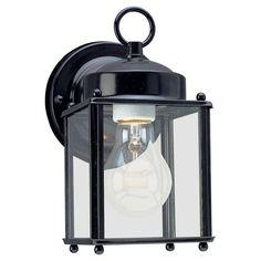 Sea Gull Lighting 8592 New Castle 1 Light Outdoor Lantern Wall Sconce