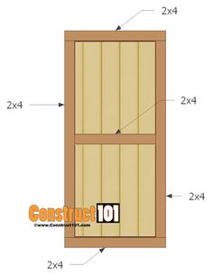 Below are step-by-step instructions to build a shed door. These shed door plans can easily be customized to fit most sheds. Lean To Shed, Build Your Own Shed, Shed Plans 12x16, Diy Shed Plans, Backyard Sheds, Outdoor Sheds, Shed Design, Door Design, Loafing Shed
