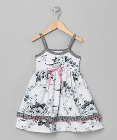 Take a look at this Black & White Stella's Floral Lily Dress - Infant & Toddler by Mad Sky on #zulily today!