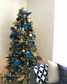 I've been a little behind with the Christmas decorations this year, purely because we are going away for the holidays. This year I went for a slim style tree from with a navy blue, teal and gold peacock theme - perfect for a summer Christmas! Merry Christmas 2017, Slim Christmas Tree, Summer Christmas, Christmas Fashion, Xmas Tree, Diy Christmas, Blue Christmas Tree Decorations, Holiday Decor, Teal And Gold