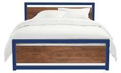Piper Wood Panel Bed in Colors - Steel Beds - Beds - Bedroom - Room & Board