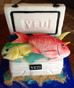 Fish in a Yeti Cooler Grooms Cake