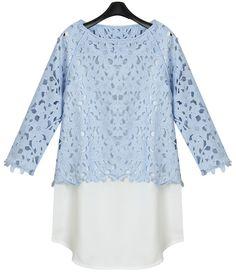 Blusa+dos+piezas+manga+larga-azul+0.00