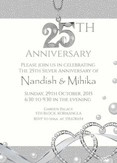 black and white theme wedding invitation card with wordings. Invite Online · 25th Silver Wedding Anniversary Invitation Wordings