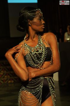 Slim Mobley Runway  FRANCI JEWELRY #MBBFW #fashion #design #photography #makeup #model #modeling #hair #jewelry