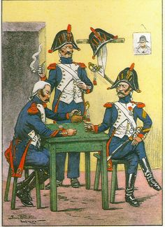 French; Imperial Guard, 1st & 2nd Grenadiers, Corporal, Grenadier & Sergeant, Winter Tenue de Sortie 1805-08