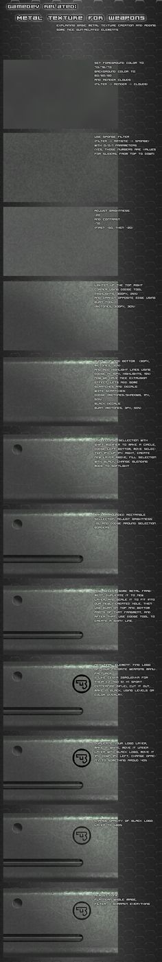 Metal texture tutorial by ~Pirosan on deviantART