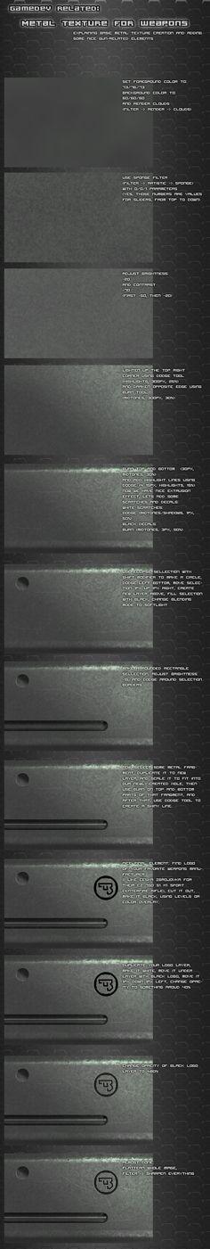 Metal texture tutorial by ~Pirosan on deviantART