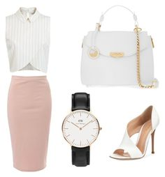 A fashion look from October 2015 featuring cropped shirts, knee length skirts and leather shoes. Browse and shop related looks. Crop Shirt, Daniel Wellington, Miss Selfridge, Leather Shoes, Versace, Fashion Looks, Glamour, Elegant, Polyvore