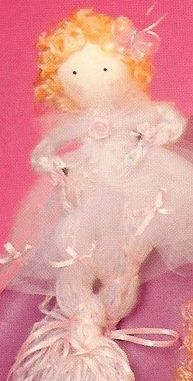 Refer to the materials list and directions from May 2011 to make the basic yarn doll using a mohair type white yarn with pastel flecks. Tulle Bows, Tulle Fabric, Yarn Dolls, Ballerina Birthday, Doll Hair, Pink Satin, Anastasia, Colored Pencils, Craft Projects