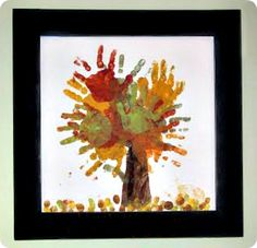 Fingerpainting Fall Tree- so cute to have kids make every year!