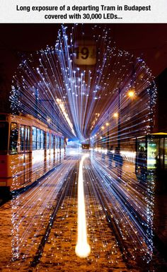 Long Exposure Photos of Budapest Trams Lit Up with LEDs. (credit: Lightsby Johnny Strategy, photos by Victor Varga)