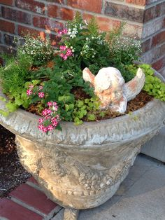main pot at front door