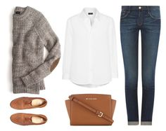 Untitled #1344 by chelseagirlfashion on Polyvore featuring Frame Denim, ASOS, MICHAEL Michael Kors, classic, minimalistic and organized