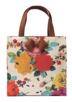 Ted Baker  Rose Bug  Print Canvas  Shopper  RRP $169
